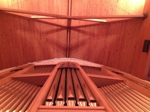 Pipe Organ and Cross at Advent Suntree, Melbourne FL